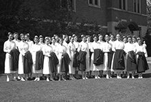 On May 26, 1935, nursing graduates gathered outside of the Michigan League. Read about some of the other things that happened in U-M history during the week of May 17-June 6.