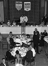 The university's sesquicentennial celebration culminated with a dinner dance Aug. 26, 1967, at the Michigan Union. Read about some of the other things that happened in U-M history during the weeks of Aug. 9-29.